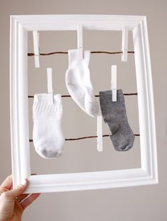 What a fun sock finder for the laundry room!