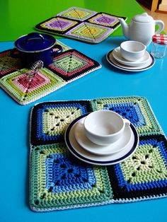 Granny Square Placemats