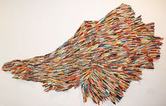 "Andrea Myers, ""Ebb"". Machine sewn fabric"
