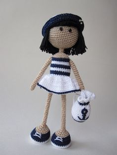 Amigurumi doll Marine girl;)