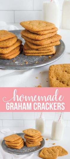 Homemade Graham Crackers - they are easier to make than you might think! www.thirtyhandmadedays.com via @30daysblog