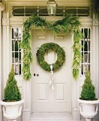 nice front door greenery