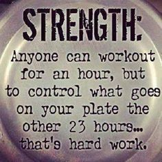 The toughest 23 hours are outside of the gym!