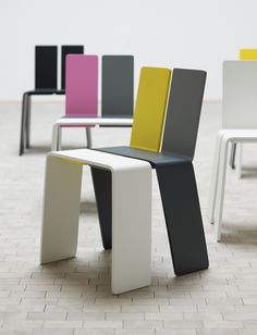 Simple and stunning and versatile! Chairs by KIBISI color combos, kibisi, chairs, chair design, shanghay chair, expo chair, industrial design, furnitur, design stuff