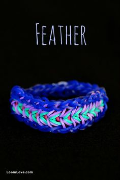 Feather Bracelet Rainbow Loom Please Follow and Repin!
