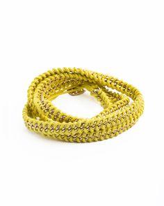 chartreuse rope bracelet