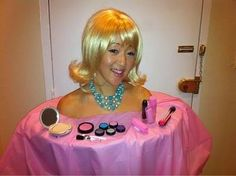 makeup barbie costum