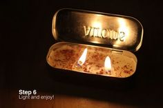 Altoids tin can candle
