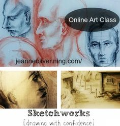 "Giveaway!!   Click the link for details on how to enter the giveaway for a spot in ""Sketchworks"" online art class. #sketch #sketchingclass #sketchworksart #art #diyart #howtodraw #perspectivedrawing #drawingfaces"