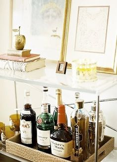 Bar cart for the living room