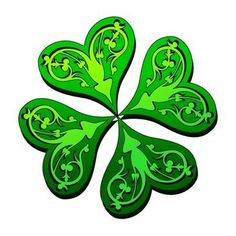 cool ink design......is it time to do work on my 4 leaf clover????? maybe.....