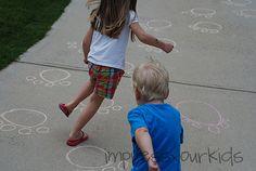 Daniel Lions Den sidewalk chalk fun!