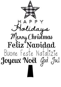 Happy holidays, Merry Christmas, Vrolijk kerstmis kerstboom