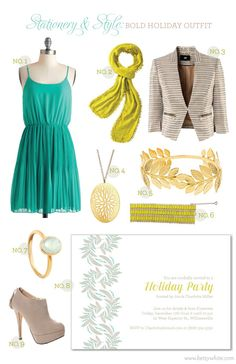 Stationery & Style: Bold Holiday Outfit