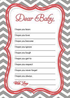 Easy Baby Shower Games | WISHES FOR BABY card baby shower game by SLDESIGNTEAM on Etsy