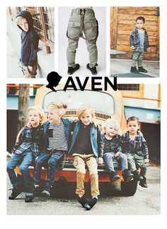 Aven.  Rad clothing for boys! Mike's friend's clothing line :)