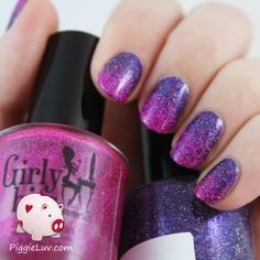 PiggieLuv: Glitter gradient with Girly Bits