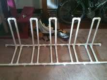 PVC Bike Rack - Another version that might work for hula hoops.