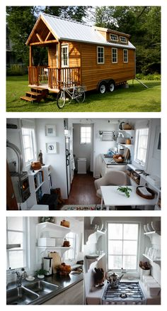 tiny home, tiny home interior. Look at the living space inside this tiny home. Click for construction photos