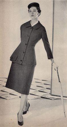 A-Line suit 1950s