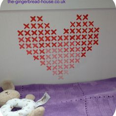 Can't stitch it? Paint it! We <3 this mural painting idea by Jenny, blogging at http://the-gingerbread-house.co.uk