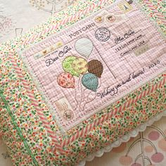 handmade embroidered postcard pillow by nanaCompany
