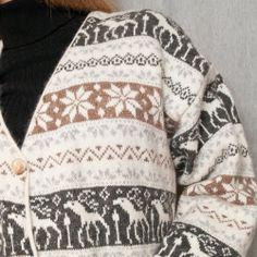 Nordic Fair Isle Sweater Fuzzy Vtg Maglia Donna Italy Moose Reindeer Womens M  #MagliaDonna #Cardigan #Sweater