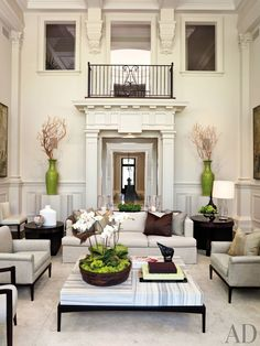 Traditional Living Room by Powell & Bonnell   AD DesignFile - Home Decorating Photos   Architectural Digest
