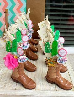 sheriff callie birthday party ideas | Kids drinking boot cup...sheriff Callie party favors.