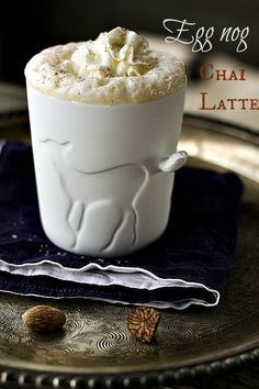 holiday, chai latt, food blogs, famili, drink, eggnog latt, foodi, christma, eggnog chai