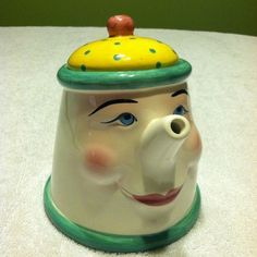 Anthropomorphic Teapot / Coffee Pot Clay Art 1993 - wait, I know her!