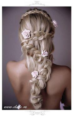 www.weddbook.com everything about wedding ♥ wedding hairstyle #hair #wedding #hairstyle #rose #braid #bride