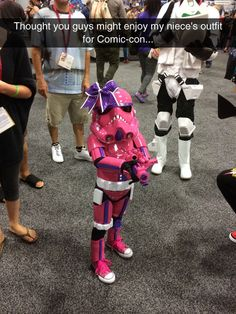Girly Stormtropper At Comic-Con