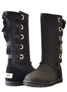 HEIRLOOM LACE UP - UGG Australia Can i have them?? And in light pink?!