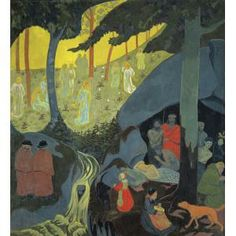 Paul Sérusier, Celtic Tale, 1894, oil on canvas, Dallas Museum of Art, Foundation for the Arts Collection, gift of Mr. and Mrs. Frederick Mayer