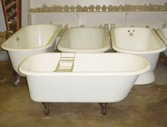 The Old Home Supply House in Fort Worth -- claw foot and pedestal tubs, vintage lighting, doors/doorknobs, fireplace mantles, etc