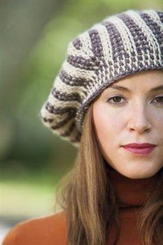 Tunisian crochet beret! Do I need to say anything else? Equipoise Beret - Media - Crochet Me