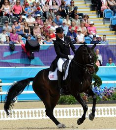 The USA's Steffen Peters and Ravel are ranked sixth individually after the second day of Olympic dressage. © Nancy Jaffer