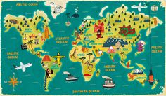 I love his art. Paul Thurlby Illustration / Maps  Would like to have this one for the school room.