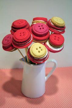 Cookie button bouquet