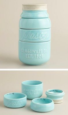 Mason jar measuring cups, 'cause.. why not?