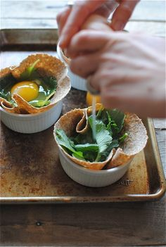 Breakfast idea. whole wheat tortilla, egg, and spinach