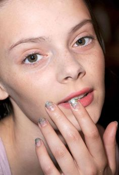 The Best Spring '13 Nail Trends to Try Now: Flashes of Metallics - Featured: Behnaz Sarafpour #HarpersBAZAAR #SpringStyle