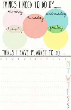 """""""Things I need to do by..."""" cool to-do & checklist on Idlized by Daryn Dree. Make sure and click the 'printable' label on the bottom of the post to see more."""