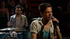 "Fun. performing ""Some Nights"" on Jimmy Fallon.  Damn, he is an amazing front man."