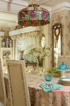 dining rooms, bit shabbi, dine room, jill garber, romant countri, countri cottagepretti, cottag victorian