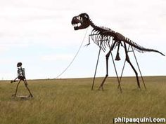South Dakota Skeleton walking a T-Rex!!