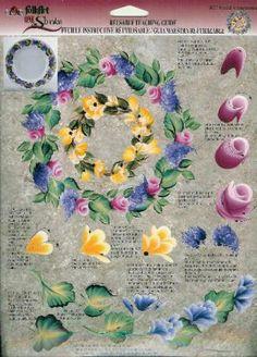Donna worksheet, floral wreaths