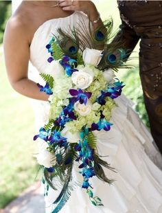 Peacock Bridal Bouquet, original pin not available