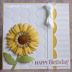 Darling Sunflower Birthday Card...A Scrapjourney: Beads.